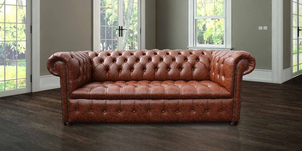 Delicieux ... Chesterfield 3 Seater Buttoned Seat Teak Faux Leather