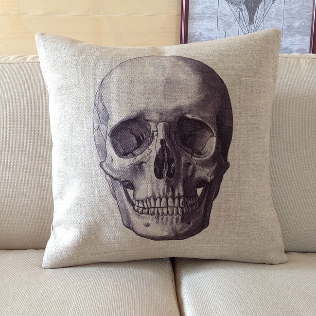 Throw Pillow Synonym : Image Gallery skull home