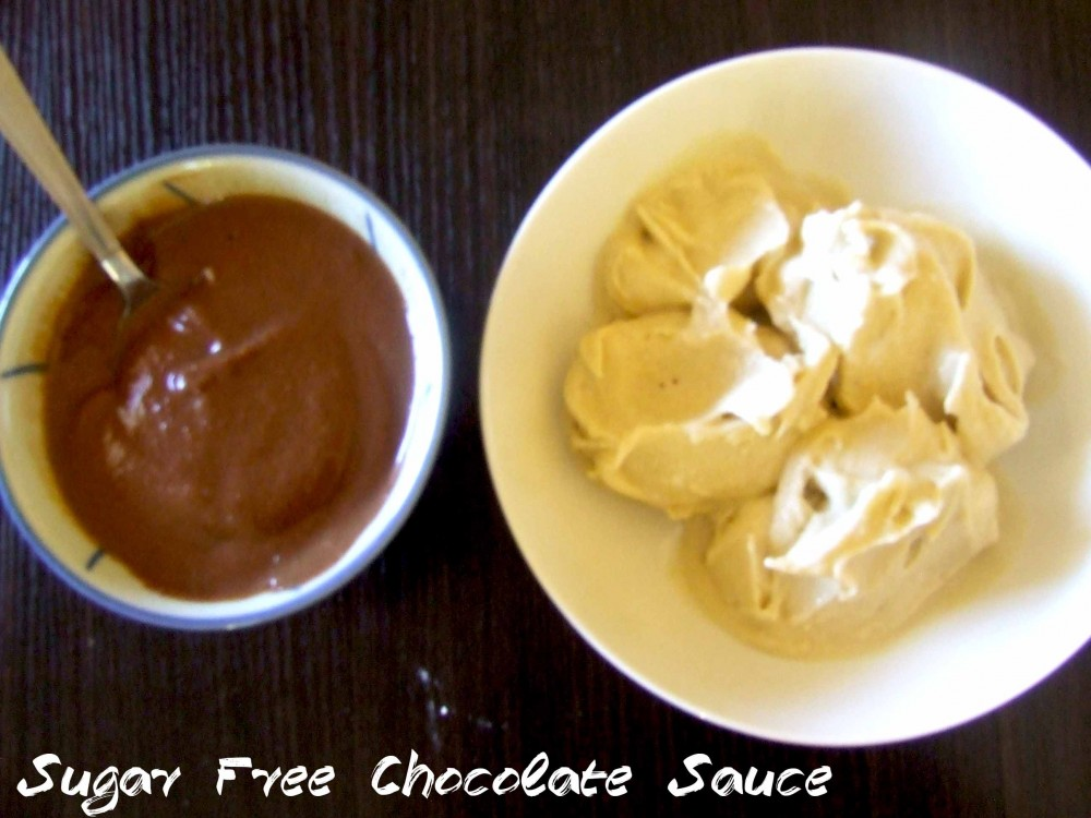 Sugar free chocolate sauce