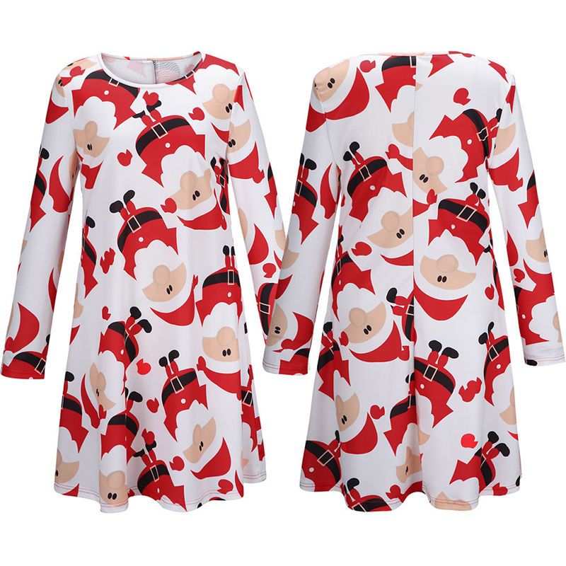 2015-Winter-Dress-Women-Long-Sleeve-Swing-Dress-Xmas-Santa-Claus-Printed-Long-Baggy-Blouse-Top