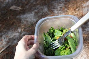 Kale salad to go